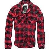 Brandit Camicia A Quadri Uomo Flanella Hemd - Rosso-Nero, XXL