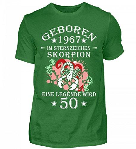 Shirtee Hochwertiges Herren Sternzeichen Skorpion Wird 50 Kelly Green