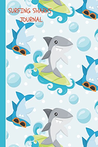 Surfing Sharks Journal: Daily Writing Journal, Notebook Planner, Lined Paper, 100 Pages 6 x 9 School Teachers, Student Exercise Book