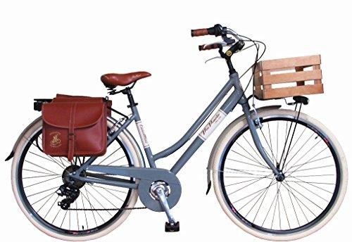 Via Veneto By Canellini Bicicleta Bici Citybike CTB Mujer Vintage Retro Via Veneto Aluminio con Cajita