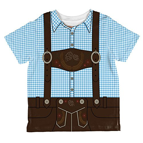 Oktoberfest Lederhose Kostüm deutsche Braune Hosenträger aller Kleinkind T Shirt blau 2 t