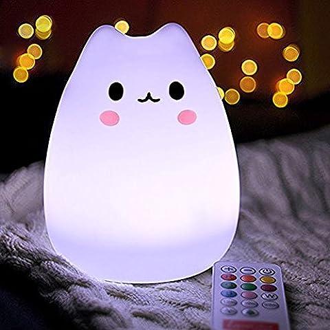 QUCHER Lampe de Nuit Chevet Veilleuse Avec minuterie , Éclairage