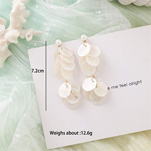 FUKAI Weiße Blume Muschel Ohrringe Sammlung Von Sweet Sea Star Ohrringe Geformt Perle Ohrringe Hochzeit Partei Schmuck Für Frau Damen Accessoires Party-Accessoires