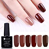 UR SUGAR 7.5ml Karamell Farbe Gel Nagellack Set Braun Nude Serie für Winter Soak Off UV LED Maniküre Lack Lack Starter Kit
