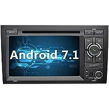 YINUO 7 Pulgadas 2 Din Android 7.1.1 Nougat 2GB RAM Quad Core Pantalla Tactil Estereo Reproductor De DVD GPS Navegador Multimedia Radio De Coche Con Bluetooth Para Audi A4 ( 2002-2008 )