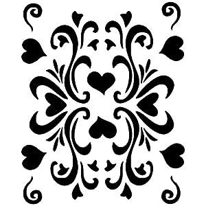 Eulenspiegel Retro Hearts Plantilla de pintura facial 109373