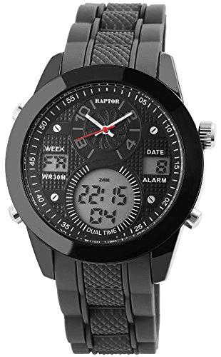 Raptor Herren Uhr Analog-Digital Quarzwerk mit Silikon Armband RA20030-002