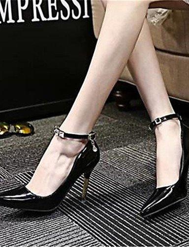 WSS 2016 Chaussures Femme-Habillé / Soirée & Evénement-Noir / Rose / Gris-Talon Aiguille-Talons-Talons-Similicuir gray-us6.5-7 / eu37 / uk4.5-5 / cn37