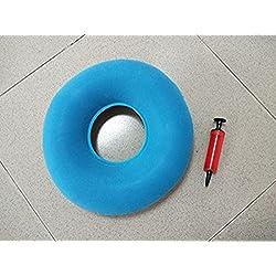 jiahao Original Donut Sitzkissen aufblasbar Donut Kissen für Steißbein Schmerzlinderung–Hämorrhoiden Behandlung–dekubitusgefahr–Prostatitis–Blau