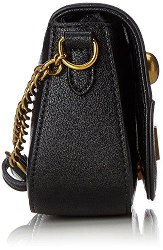 b8d5be314121a ... Love Moschino Chain Cross Body Damen Handtasche Schwarz Schwarz (Black)  ...