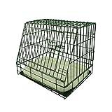 Ellie-Bo Deluxe Käfig für Hundewelpen, faltbar, mit nicht kaubarer Metallablage, Fleece-Kissen und abgeschrägter Vorderseite für sicheren Autotransport, Größe S, 61°cm, Schwarz