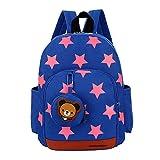 Niedliche Kleinkinder Rucksack Netter Dauerhafter Rucksack für Mädchen und Jungen Kinderrucksack für Kinder Alter 2-6 (Blau)