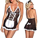 Hot Sexy Maid Dress Skirt Women Halloween Costume Cosplay Maid Lingerie Dress Up Outfit Fancy Dress Sexy Sleepwear