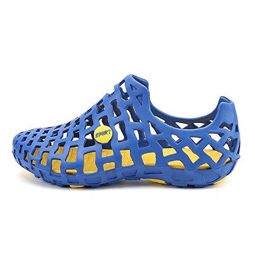 U.Buy Herren Mode Mesh-Slip-Wasserschuhe Schnelltrocknende AquaSchuhe Breathable Ineinander Greifen Sport Turnschuhe Loch Schuhe Blau