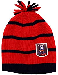 Thomas The Tank Engine Babies Red & Navy Striped Winter Bobble Beanie Age 6-12 Months