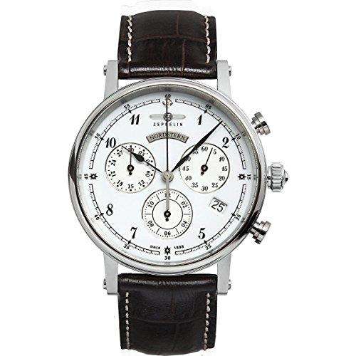Zeppelin Watches 7577-1 - Reloj analógico para mujer de cuero blanco