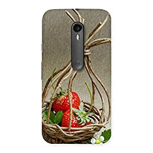 Gorgeous Straberry Basket Multicolor Back Case Cover for Moto G3