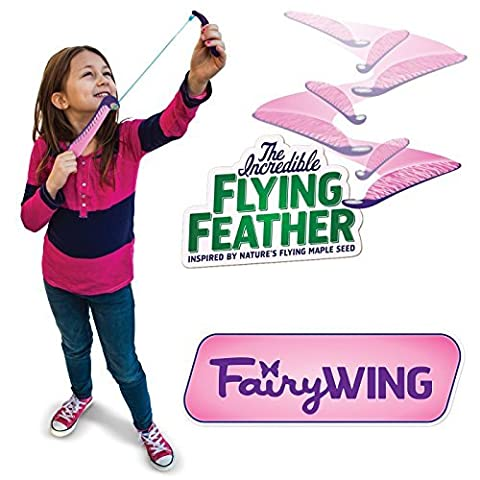 The Incredible Flying Feather Fairy Wing with Bungee Launcher by