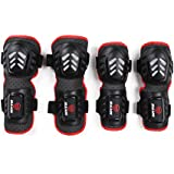 Segolike 4Pcs Cycling Skating Shin Knee & Elbow Pads Guards Football, Basketball Knee & Elbow Guards Protector...