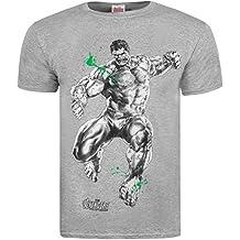 Producto oficial de Los Vengadores de Marvel 2 'the Hulk grayscale' T-camiseta de manga corta - Gris