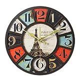 Digitale Wanduhr/Stille Wanduhr, Dekorative Uhr Mit Rundem Turmmuster, Geeignet füR Wohnzimmer, Schlafzimmer, Bar