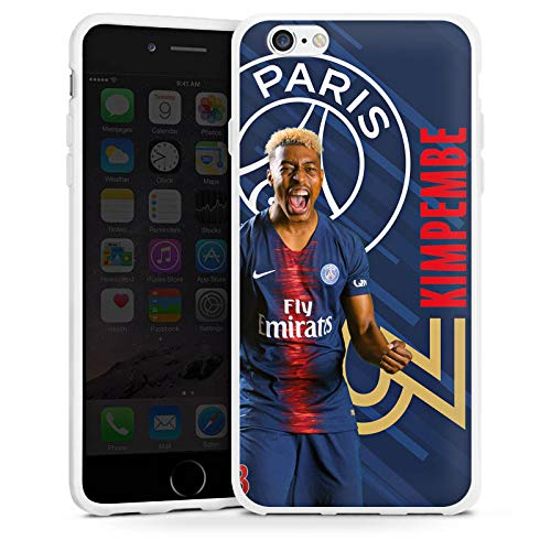 DeinDesign Apple iPhone 6s Coque en Silicone Étui Silicone Coque Souple Paris Saint-Germain Produit sous Licence Officielle Kimpembe