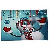 LSAltd Weihnachten Home Rutschfeste Tür Fußmatten Hall Teppiche Küche Decor Badematte Badteppiche Rutschfester Badvorleger Rutschfest Matte Fußmatte Fußabtreter Weihnachtsdeko
