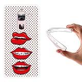 WoowCase LeTV LeEco Le Max 2 X820 Hülle, Handyhülle Silikon für [ LeTV LeEco Le Max 2 X820 ] Pop-Art Lippen Handytasche Handy Cover Case Schutzhülle Flexible TPU - Transparent