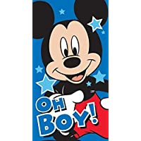 Disney mickey mouse oh boy cotton towel beach bath towel blue childrens boys 100% official item great gift ideas