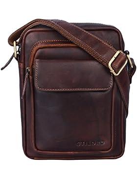 STILORD 'Jannis' Leder Umhängetasche Männer klein Vintage Messenger Bag Herren-Tasche Tablettasche für 9.7 Zoll...