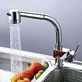 Badezimmer Küche Küchenarmatur Zeitgenössisch Mit ausziehbarer Brause Messing Chrom
