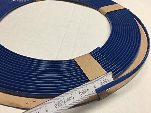 Preisvergleich Produktbild 3 Meter Kantenschutz Zierleisten blau U-Profil alle Autos KFZ Roller