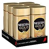 NESCAFÉ Gold Crema, löslicher Kaffee, 6er Pack, 6x200g Glas