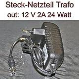 Netzteil Stecknetzteil Trafo 12V 2A 24 Watt Stecker 5,5/2,1mm