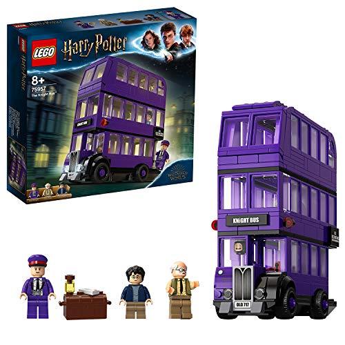 LEGO Harry Potter - Autobús Noctámbulo, Juguete de Construcción del Mágico Autobús, Incluye 3 Minifiguras (75957)