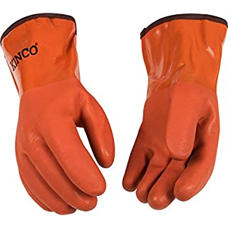 Kinco 8182 Acrylic Lined PVC Glove with Sandy Finish, Work, 12