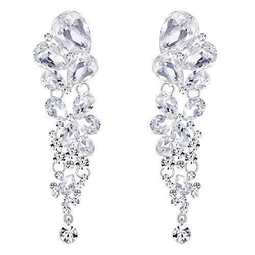 EVER FAITH® Gorgeous Tropfen Hochzeit Dangle Pierced Ohrringe klar österreichischen Kristall N02693-1