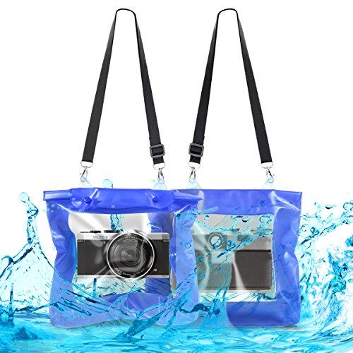 kwmobile Funda Impermeable para cámara - Carcasa Protectora Sumergible para cámara de Fotos - XL Estuche Protector para cámara con Lente