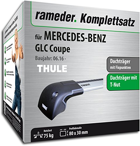 Rameder Komplettsatz, Dachträger WingBar Edge für Mercedes-Benz GLC Coupe (140932-36676-1)