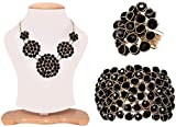 #10: Aabhu American Diamond crystal Studded Handmade Combo of Pendant Necklace Set With Bracelet And Ring Jewellery Combo For Women And Girl