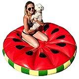 Lucky-all star Wassermelone aufblasbare Pool Float - aufblasbare große Runde schwimmende Reihe Spaß Obst schwimmenden Bett Wasser Strand Schwimmen Spielzeug für Kinder Erwachsene