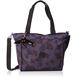Kipling - New Shopper S, Bolsos totes Mujer, Mehrfarbig (Floral Night), 42x27x0.1 cm (B x H T)