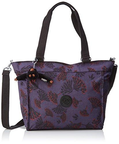 Kipling Damen New Shopper S Tote, Mehrfarbig (Floral Night), 42x27x0.1 cm (Handtasche Damen Floral)
