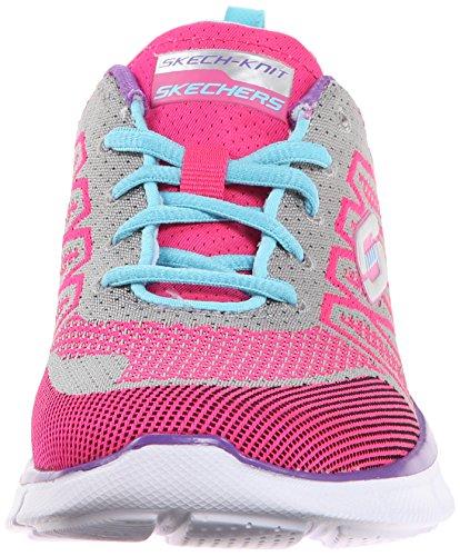 Skechers - Equalizerabove All, Sneaker basse Bambina Rosa (Pink (HPMT))