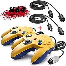 iNNEXT 2 Set Rétro 64-Bit N64 Manette Gamepad Joystick pour N64 Konsole N 64 Système et 6ft / 1.8m N64 Cordon de rallonge pour N64 Contrôleur Nintendo 64 Console de Jeu