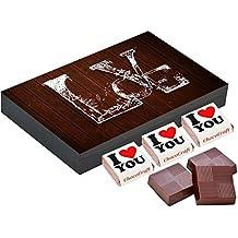 Chocolate Gift Box, Unique Gift Idea for Valentine - 12 Chocolate Gift Box - Romantic Gift
