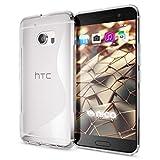 NALIA Handyhülle kompatibel mit HTC 10, Ultra-Slim Silikon Case Cover, Dünne Crystal Schutzhülle, Etui Handy-Tasche Back-Cover Phone Bumper, TPU Smartphone Gummihülle - S-Line Transparent