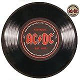 AC/DC Teppich Schalplatte 60 cm Runder Teppich Türmatte Heavy Metall Musician Rugs