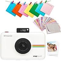 Polaroid SNAP Touch 2.0: cámara digital portátil instantánea de 13 megapíxeles con Bluetooth incorporado, pantalla táctil LCD, vídeo 1080 p, tecnología ZINK de cero tinta y nueva aplicación. Imprime copias adhesivas de 2x3 in. Blanco.
