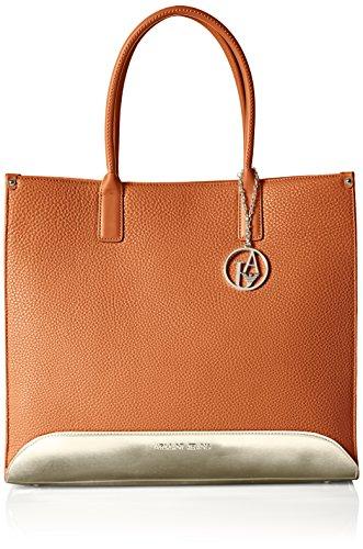 Armani Jeans C5247R8 - Shopper para mujer, color marrón (cuoio 7h), talla...